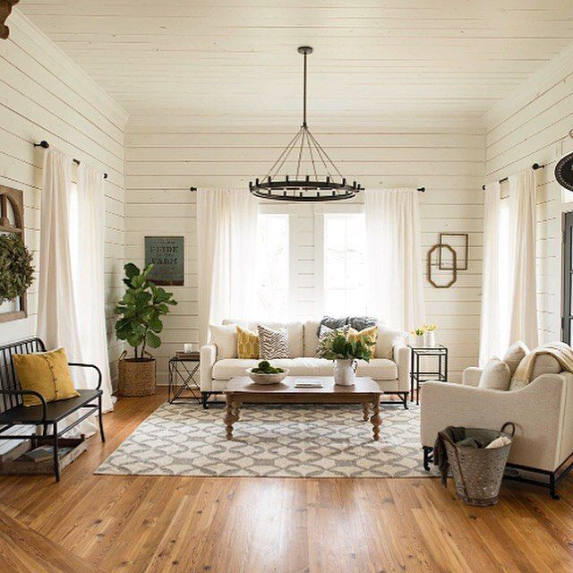 What Is Shiplap on get the look a living room with pops of color