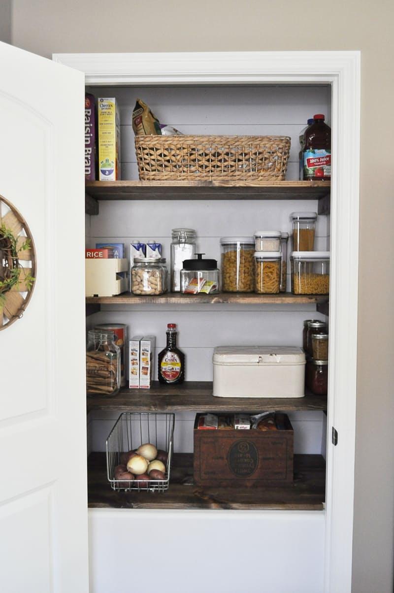 Shiplap pantry design