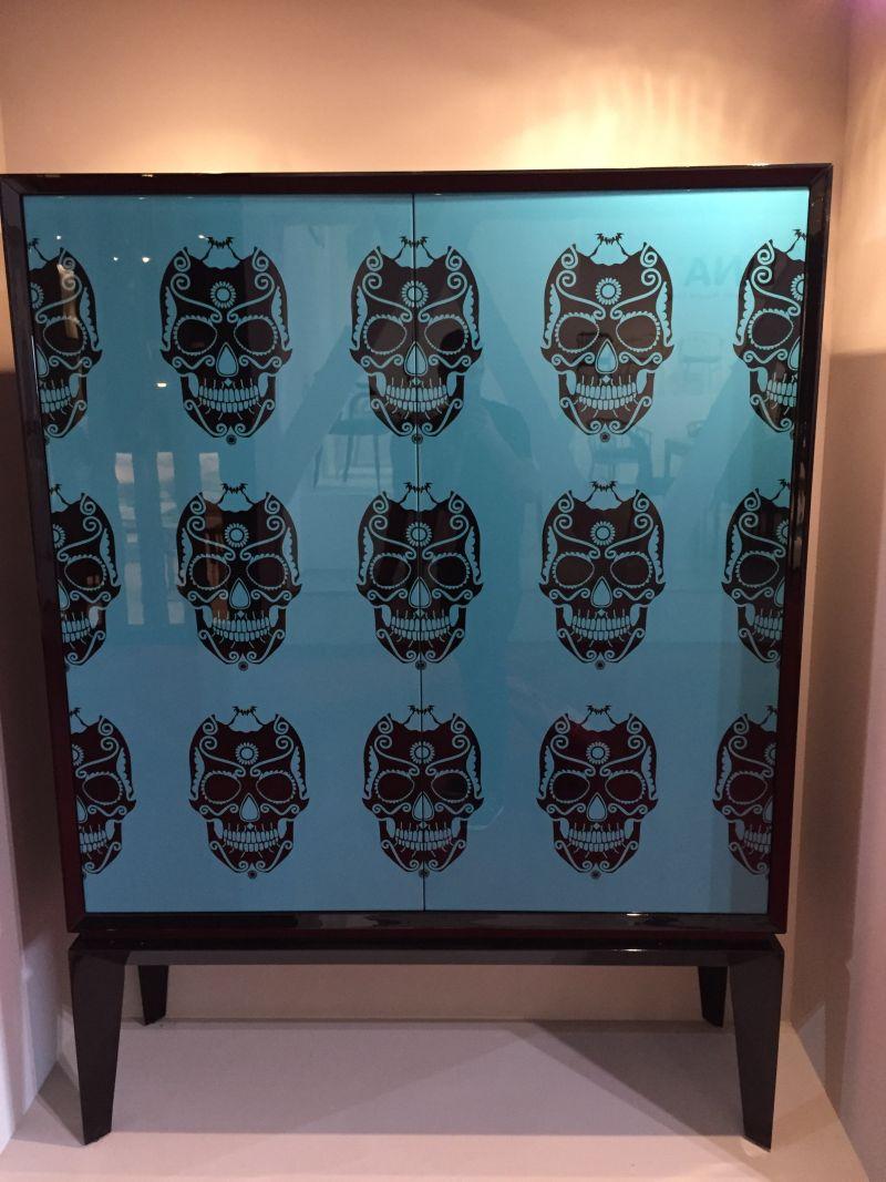 Skull chest front pattern