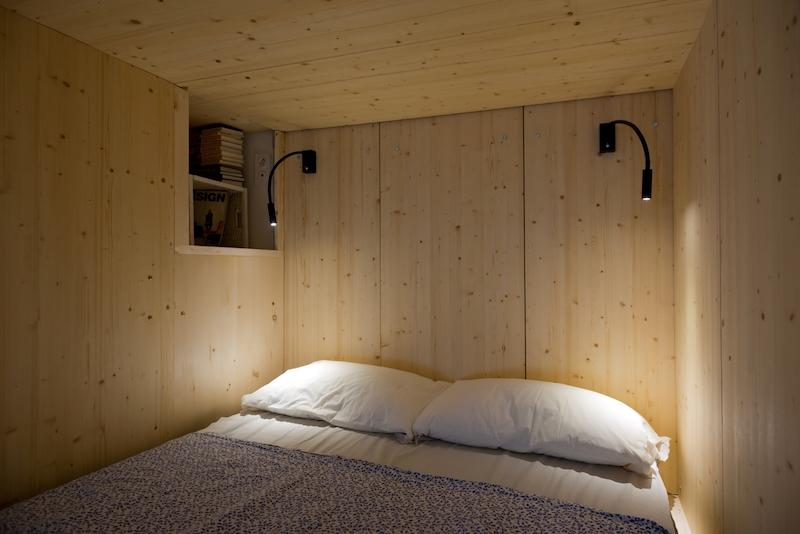 Small Moscow flat sleeping box