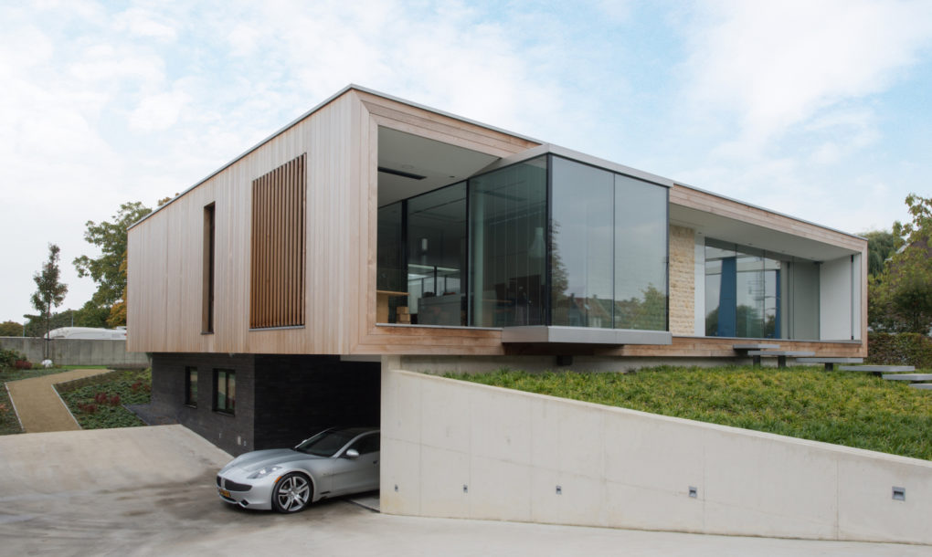 Amazing projects that take green architecture to new heights Garage under house