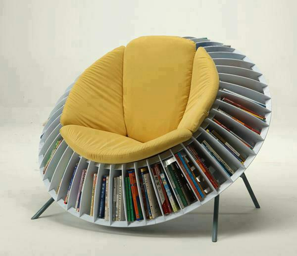 Sunflower Chair with Books Storage