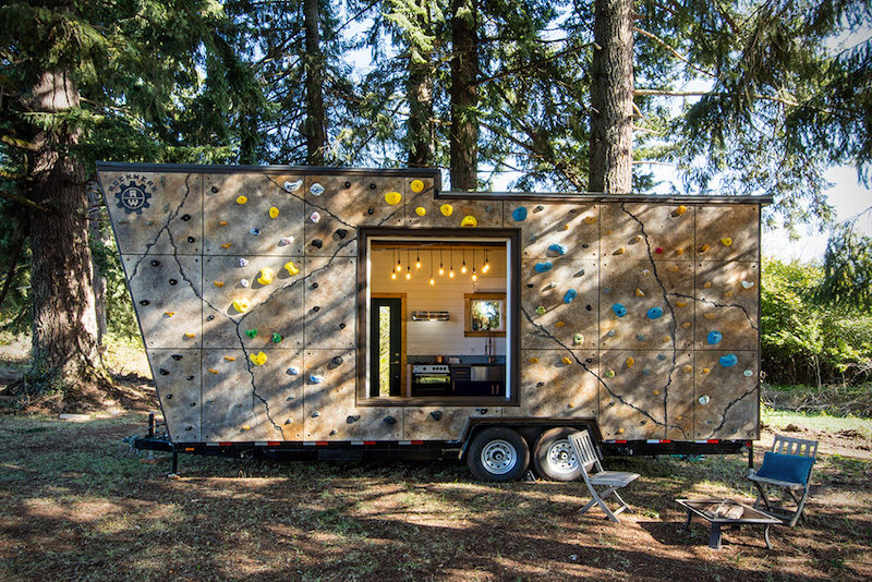 A Tiny Adventure Home With A Climbing Wall And Cozy Loft Nooks