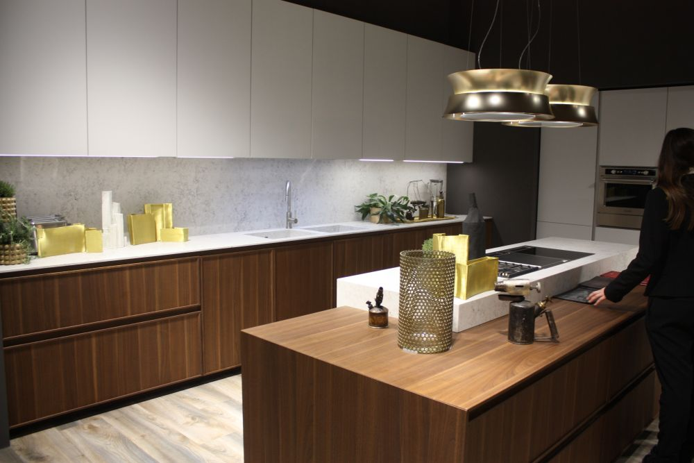 White And Brown Modern Kitchen Cabinets Design