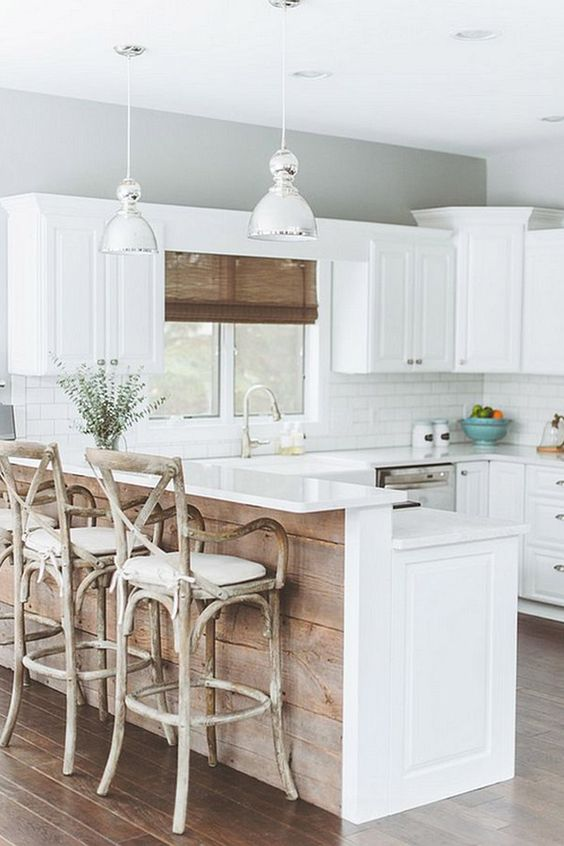 White kitchen with a beach cottage feel