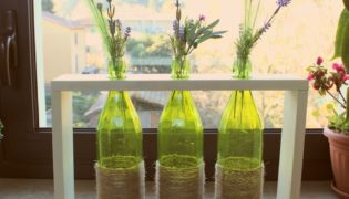 Simple DIY Bottle Centerpiece