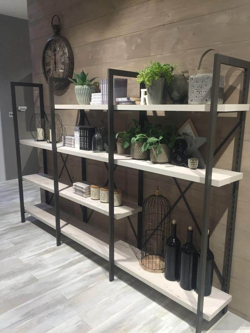 Wire Floor Open Shelves