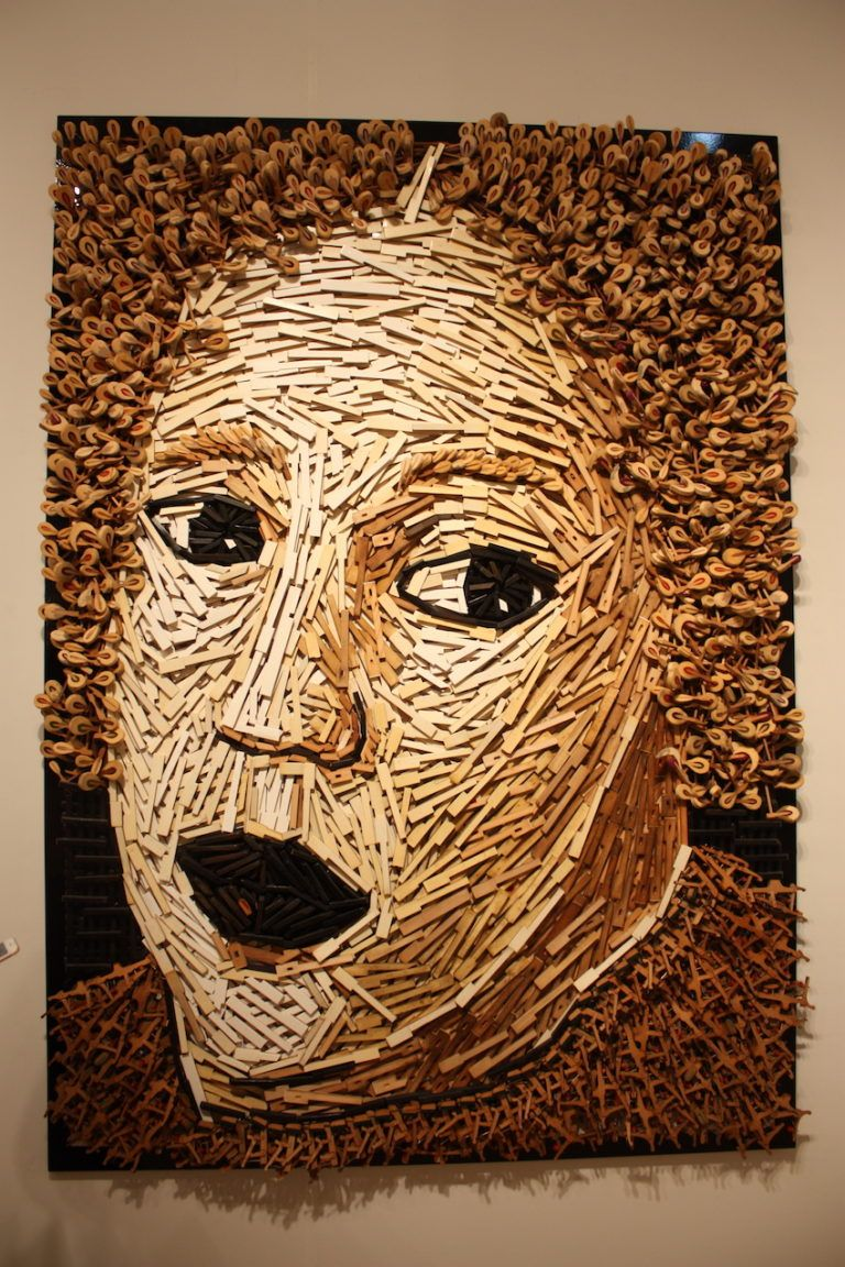 Uribe transformed the inner workings of pianos into this phenomenal portrait.