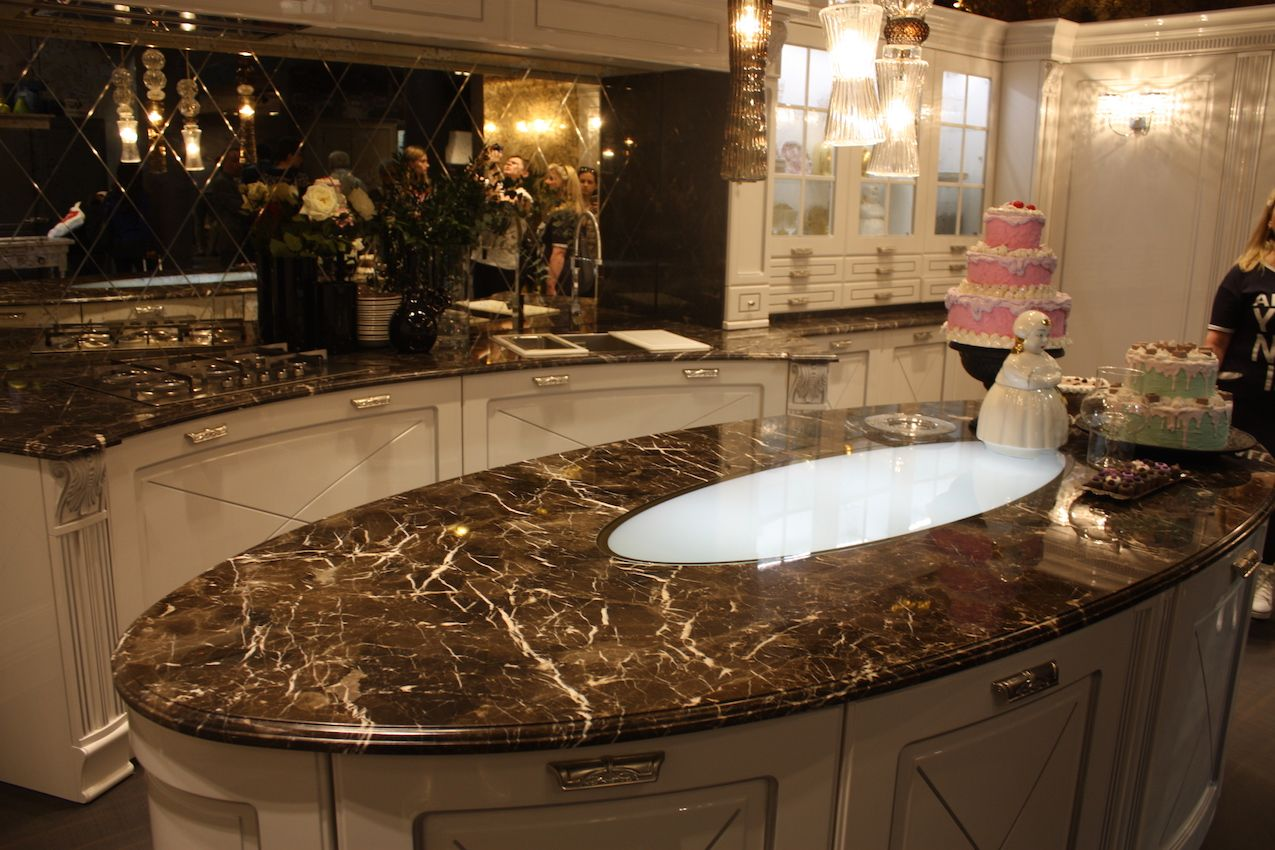 View In Gallery Aran Kitchens Dark Marble ...