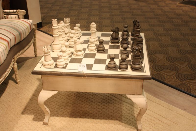 Coffee chess game table design