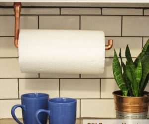 DIY Paper Towel Holder · DIY Under Cabinet Hanging Copper Paper Towel Holder
