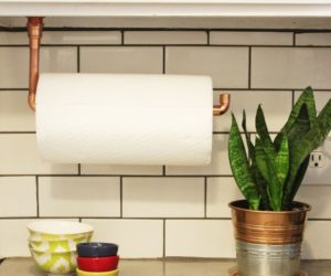 Under Cabinet Paper Towel Holder – DIY Copper Pipes