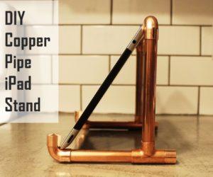DIY Copper Pipe iPad Stand