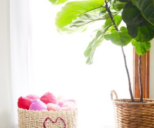 DIY Basket Heart String Art For Valentine's Day