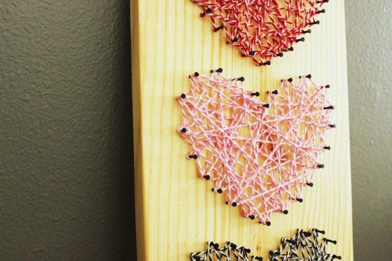 DIY Baker's Twine Heart String Art
