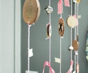 DIY Rustic Heart Window Garland