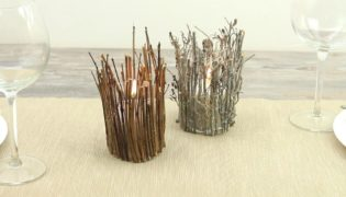 Make A Rustic Twig Candle Holder