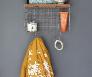 DIY Wire Basket Storage Shelf