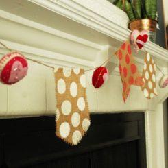 DIY Burlap and Felt Valentine's Day Banner