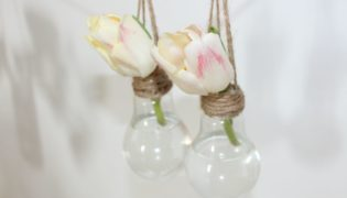 DIY a Hanging Vase from a Light Bulb