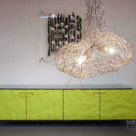 Modern sideboard in greenery panton color of the year