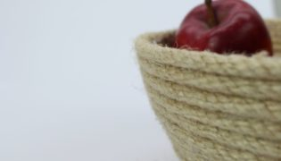 Hot Glue a Trendy Sisal Rope Bowl