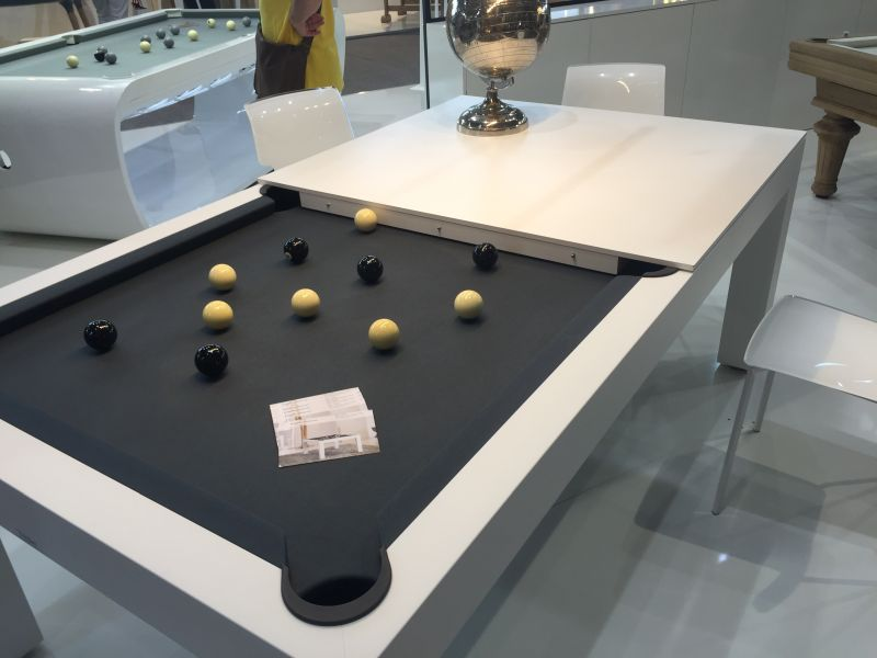 Toulet and Christophe Lambert Pool table and dining table design