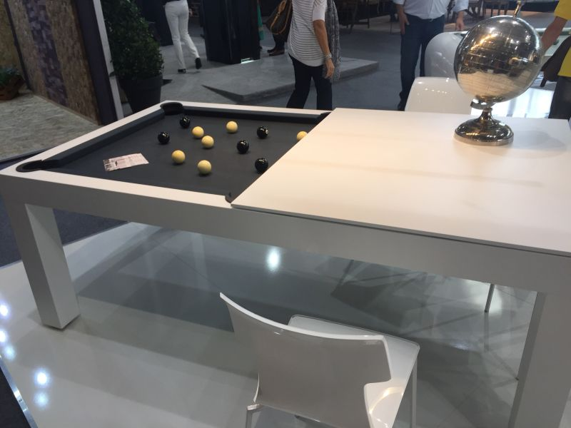 Toulet and Christophe Lambert Pool table and dining table
