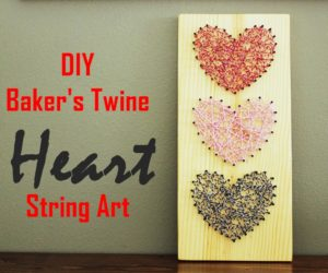DIY Baker's Twine Heart String Art