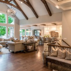 12 ways to incorporate a coffered ceiling into your home for Coffered cathedral ceiling