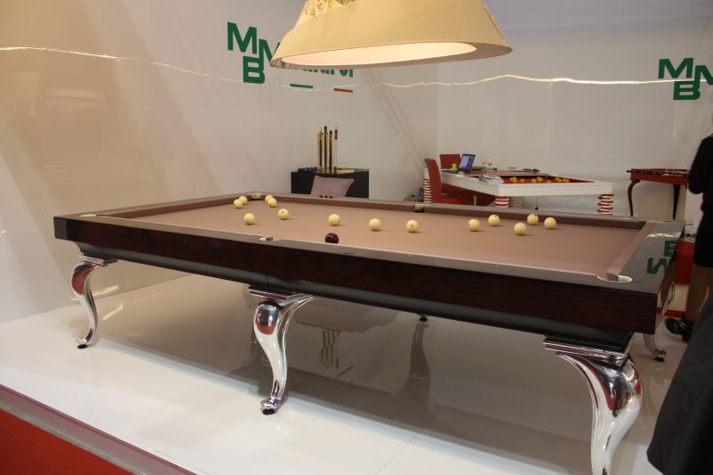 mbmbiliardi italy pool table with chromed legs
