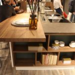 Wood countertops can match other wood surfaces and mix well with other materials as in this Arrex kitchen.