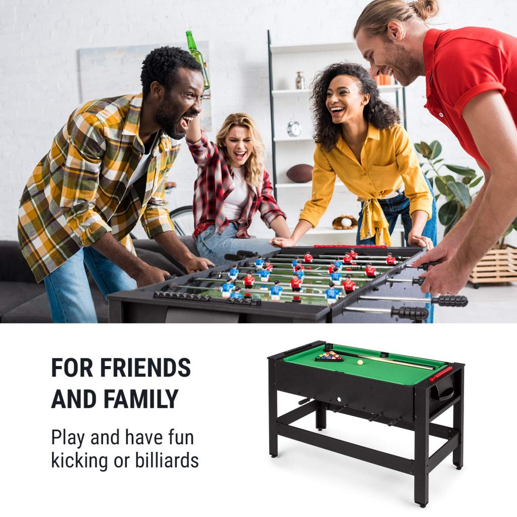 game room decor A Convertible Pool and Foosball Table