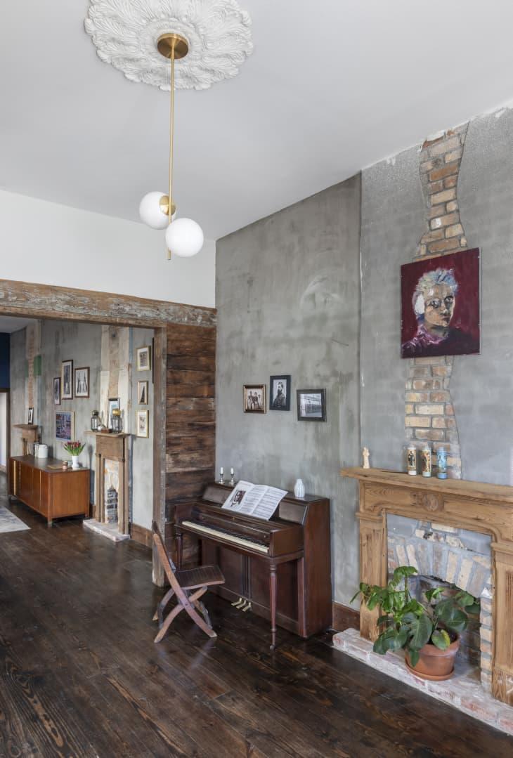 A Rustic Fireplace Shelf