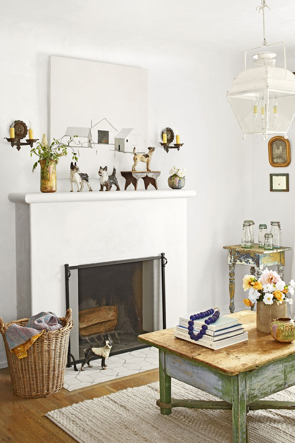 Add Antiques to Your Mantel Shelf