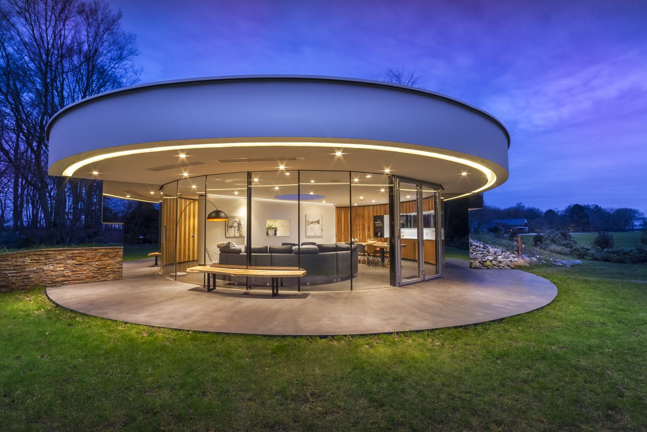 A Circular House Lets Its Residents Engage The Forest Surroundings