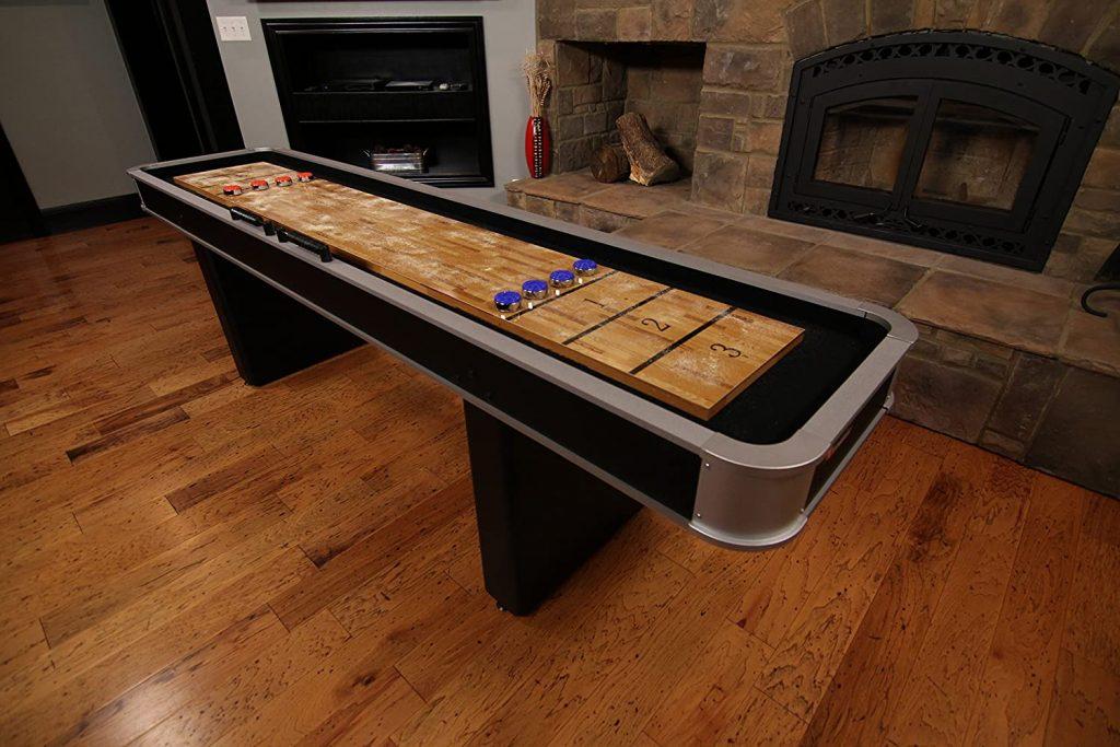game room decor An Indoor Shuffleboard Table