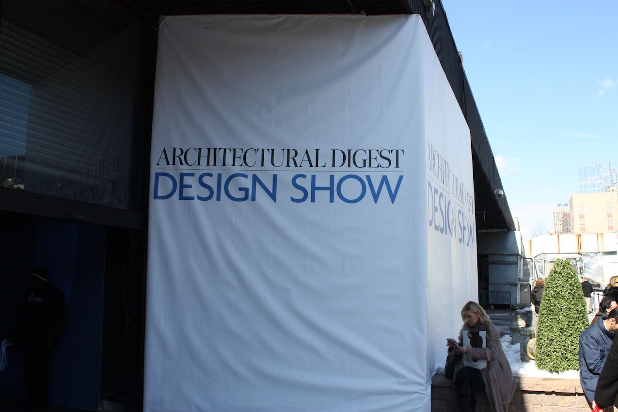 Creative designs and the latest home tech at ad design show for Architectural digest show