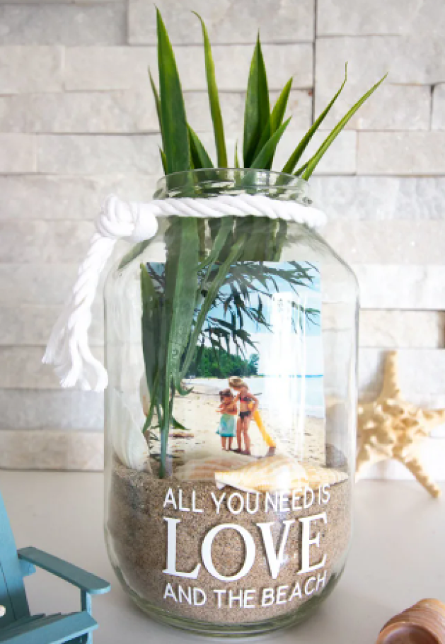Beach Photo Display Jar