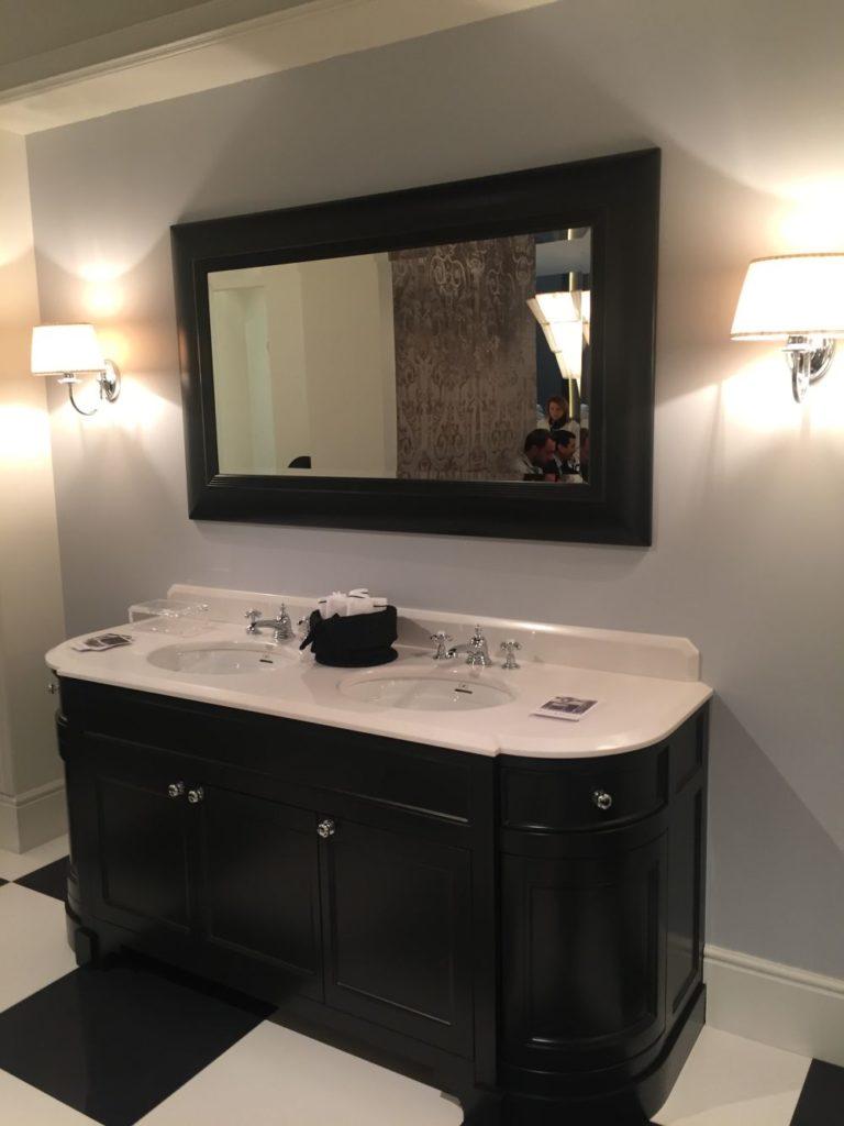 Black vanity bathroom
