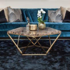 Blue velvet dazzle couch
