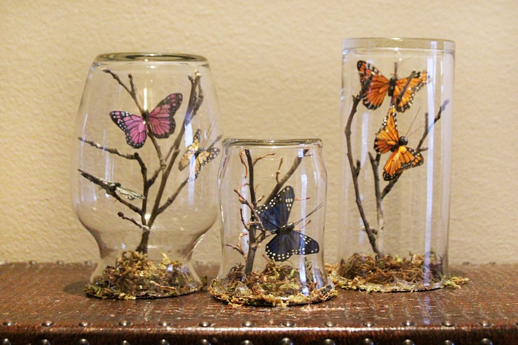 Butterfly Oasis Apothecary Jars