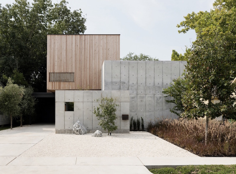 Sculptural House Made Up Of Three Box-Like Volumes