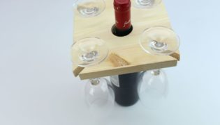 Craft A Wine Glass Holder Perfect For Entertaining