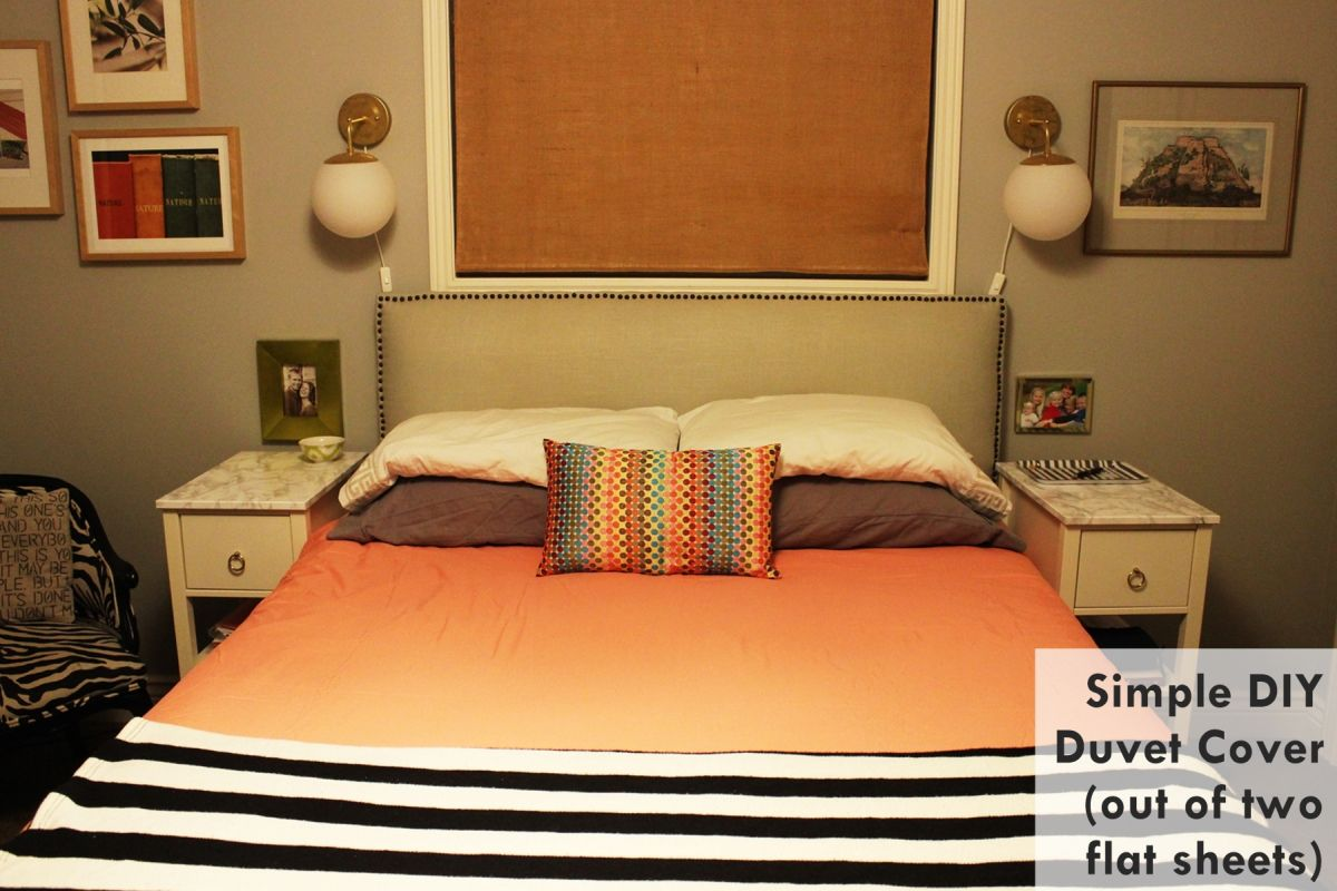 DIY Duvet Cover: How to Easily Turn Two Flat Sheets into a Custom ...