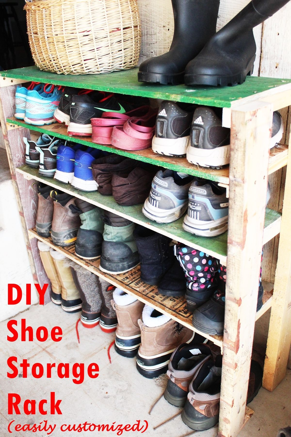 DIY Shoe Storage Shelves For Garage: An Easy, Fast, And Versatile Project