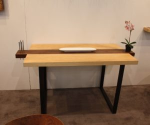 The Two Tone Wood And Darker Base Contribute To The Zen Feel Of The Table