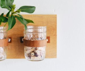 Crafting A Mason Jar Storage Wall Organizer