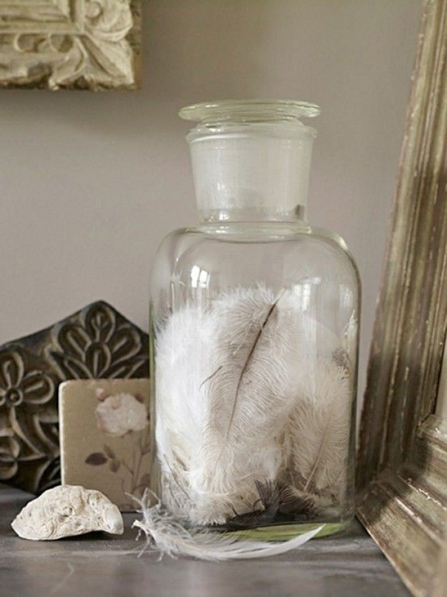Feather Apothecary Jars