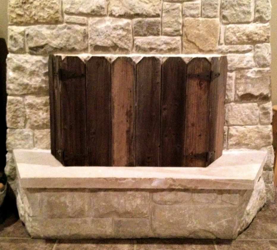 wooden fireplace screen. View in gallery 10 Ideas to DIY Your Own Fireplace Screen